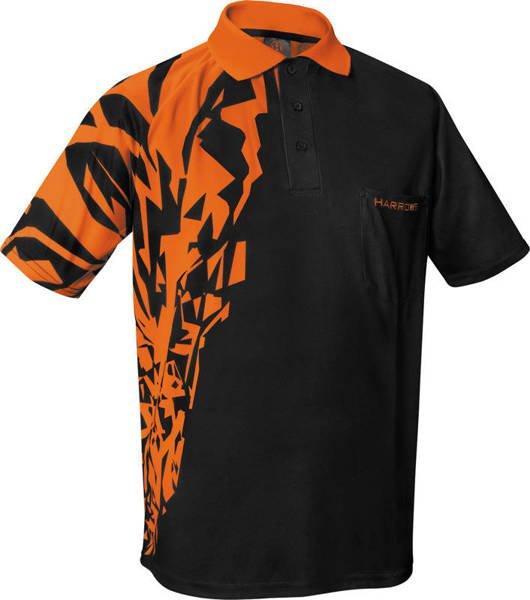 Koszulka polo Harrows Rapide czarno-pomarańczowa
