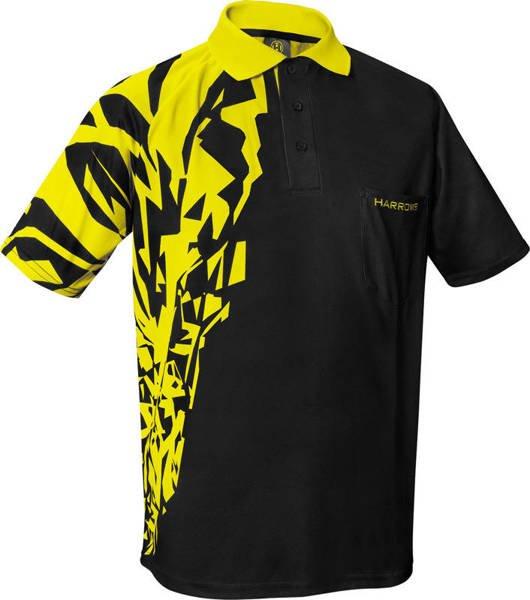 Koszulka polo Harrows Rapide czarno-żółta